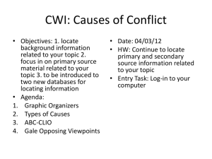 CWI Causes of Conflict Day Two day_two_causes_of_conflict