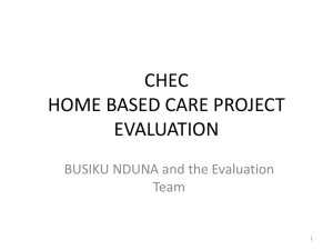 chec home based care project