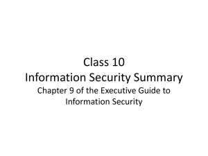 Information Security Summary