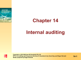 The evolving nature of internal auditing