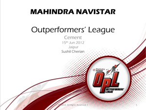 mahindra navistar - Outperformers' League