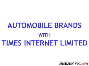 Auto Industry on Times Internet Ltd