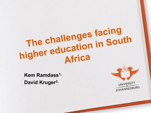 The challenges facing education in South Africa