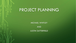 Project Scheduling/Microsoft Project