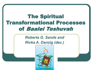 A Model of Spiritual Transformational Processes of Baalei Teshuvah: