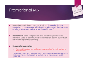 Promotional Mix - Mr Goodacre.com