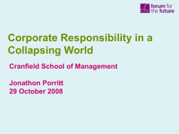 Corporate Responsibility in a Collapsing World