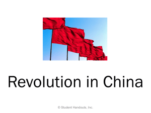 Chinese Nationalist and Communist Revolution