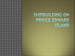 Shipbuilding on Prince Edward Island