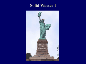 Solid Wastes I