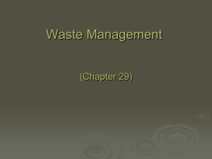 Waste Management- PPT - AP Environmental Science