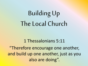 Building Up The Local Church