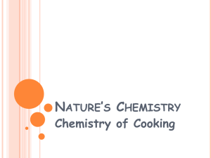 Chemistry of Cooking