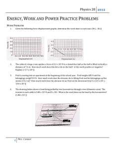 Work, Energy and Power Practice Problems