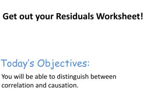 Get out your Residuals Worksheet!