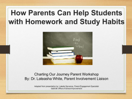 Homework and Study Habits