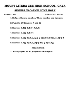 Summer Vacation-2015 Home Work 7 Class