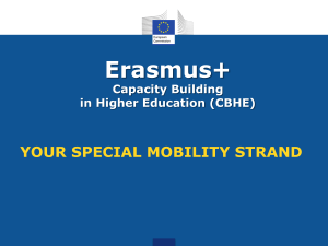 Erasmus+ Capacity Building in Higher Education (CBHE)