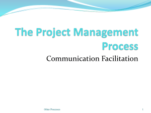 Project Management - Monitoring and Control