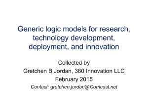 Jordan and others R&D logic models