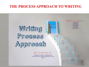 The stages of the writing process approach