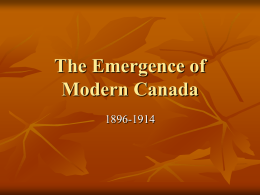 The Emergence of Modern Canada