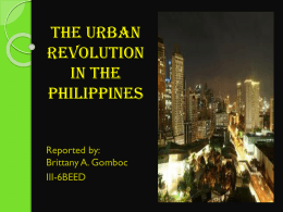 The urban revolution - PNU