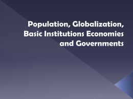 Population, Globalization, Basic Institutions & Citizenship