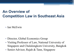 Recent Developments in Competition Law in Asia
