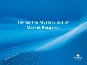 PowerPoint – Taking the Mystery out of Market Research