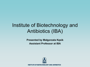 Institute of Biotechnology and Antibiotics