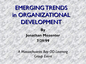 Emerging Trends In Organizational Development