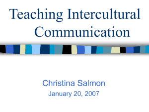 Teaching Intercultural Communication