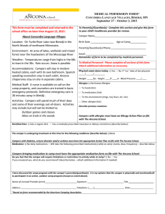 MEDICAL PERMISSION FORM* Concordia Language Villages
