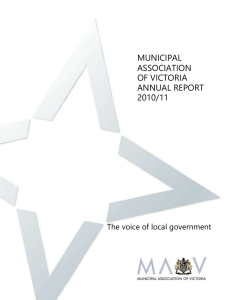 2010 * 11 annual report part 1 - Municipal Association of Victoria