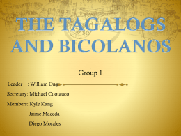 THE TAGALOGS AND BICOLANOS