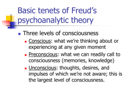 Basic tenets of Freud's psychoanalytic theory