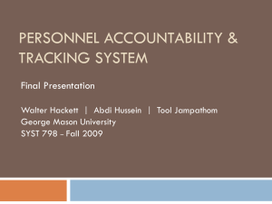 Personnel Accountability & Tracking System - SEOR