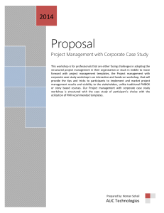 Project Management with Corporate Case Study Training Proposal