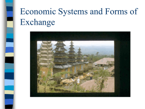 Economic Systems and Forms of Exchange