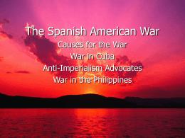 Spanish american war imperialism essay