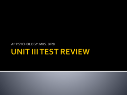 unit iii test review - Plain Local Schools