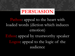 persuasion, poetic elements, literary devices in