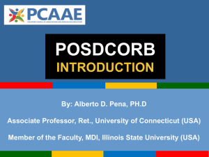 POSDCORB INTRODUCTION By