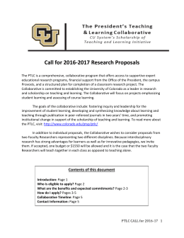 Call for 2016-2017 Research Proposals