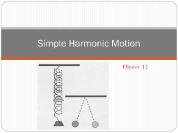 Simple Harmonic Motion - Hrsbstaff.ednet.ns.ca