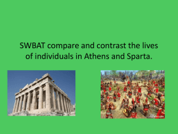 SWBAT compare and contrast the lives of individuals in