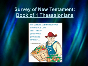 Survey of New Testament: Book of 1