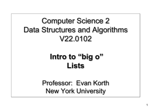 Abstract Data Types - Lists - NYU Computer Science Department