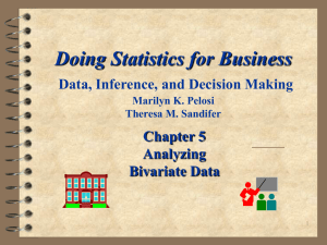 Doing Statistics for Business Data, Inferences, and Decision Making
